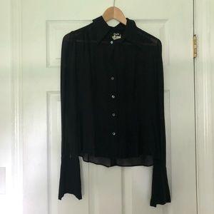 Dolce & Gabbana D&G Black Blouse Sheer